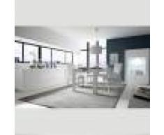 NOUVOMEUBLE Salle à manger blanc laqué design et motifs ERINE 3