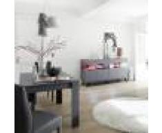 NOUVOMEUBLE Salle à manger LED design grise et rouge CASTELLI 5