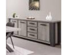 NOUVOMEUBLE Enfilade 248 cm couleur bois gris MATHEIS
