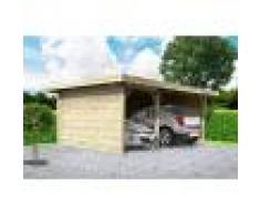 SOLID Carport double 5 m x 7 m