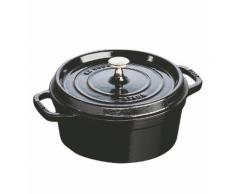 Cocotte ronde noir brillant 24 cm - Staub - Multicolore