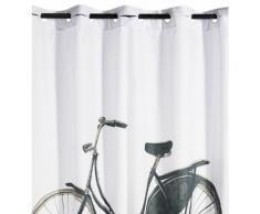Rideau de douche imprimé vélo Blanc Absolument Maison