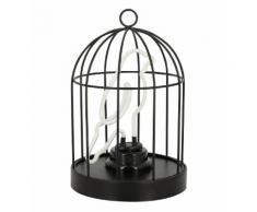 Lampe néon Oiseau dans la Cage Noir Suck Uk