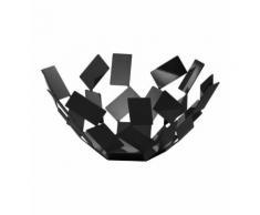 Corbeille à fruits noire en acier Clichy Alessi Noir Alessi
