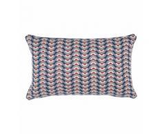 Coussin rectangle Origami Coton 30 x 50 cm Bleu Absolument Maison