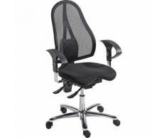 Chaise de bureau pivotante, contact permanent et assise Orthositz® avec Body Balance Tec®, dossier résille   Topstar