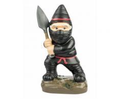 Mini nain de jardin ninja noir 9x13x23cm Taille Unique