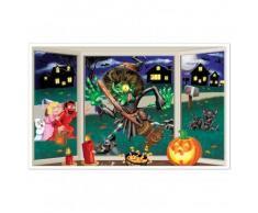 Décoration murale sorcière écrasée Halloween Taille Unique