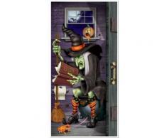 Décoration de porte sorcière au toilette Halloween Taille Unique