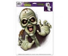 Décoration Halloween autocollant monstre effrayant Taille Unique