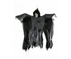 Décoration Halloween Faucheuse animée yeux brillants noir 50cm DE Taille Unique