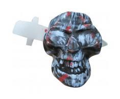 Décoration tête de mort avec couteau Halloween Taille Unique