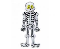 Décoration Halloween squelette gonflable blanc-noir Taille Unique