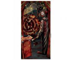 Décoration de porte clown Halloween 85 x 165 cm Taille Unique