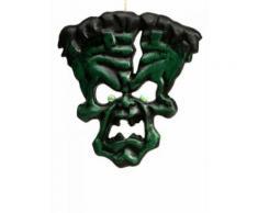 Décoration à accrocher monstre vert Halloween 36x33cm DE Taille Unique
