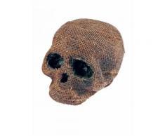 Décoration Halloween crâne sans mâchoires gris-beige 11x16x18cm DE Taille Unique