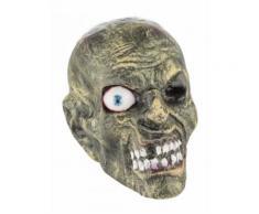 Décoration Halloween tête zombie grise DE Taille Unique