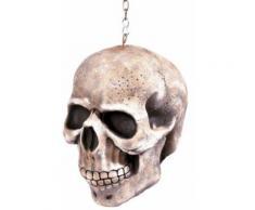 Décoration à suspendre crâne 20 cm Halloween Taille Unique