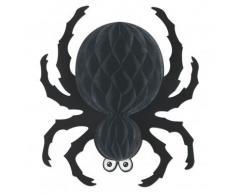 Décoration araignée à suspendre noire Halloween Taille Unique