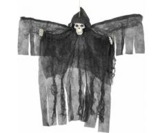 Décoration à suspendre ange noir squelettique Halloween Taille Unique