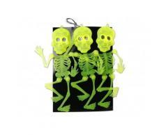 Décoration à suspendre squelettes Halloween