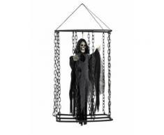 Décoration à suspendre faucheuse emprisonnée 50 cm Halloween Taille Unique