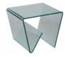 Destock Meubles Porte revues design en verre trempé courbé