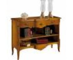 Destock Meubles Petite bibliothèque ouverte galbée 1 étagère 3 tiroirs