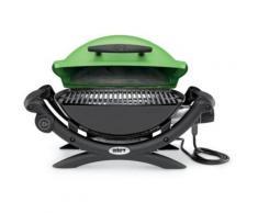 Weber Q1400 GREEN + 17057 - Barbecue électrique