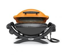 Weber Q1400 ORANGE - Barbecue électrique