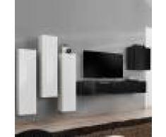 NOUVOMEUBLE Ensemble meuble TV design blanc et noir FORENZA