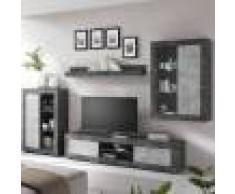 NOUVOMEUBLE Ensemble de meuble TV gris design GIOVETO