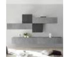 NOUVOMEUBLE Meuble TV suspendu gris design PAPIANO