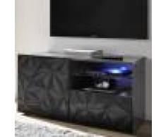 NOUVOMEUBLE Meuble TV 120 cm gris laqué design PAOLO 3