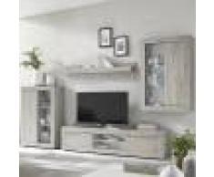 NOUVOMEUBLE Ensemble meuble TV couleur pin clair design FOCIA 6