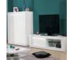 NOUVOMEUBLE Meuble TV blanc laqué design KARL