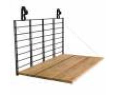 Balkonbar Table de balcon accrocher noir