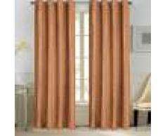 Home Maison Paire de rideaux en velours et motifs frappés velours brique 260x140