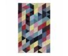 Esprit Tapis géométrique naturel en coton multicolore 80x150