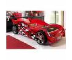 Maisonetstyles Lit voiture 229x111x60 cm rouge
