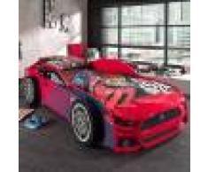 Maisonetstyles Lit voiture panthere 90x200 cm rouge - CARINO
