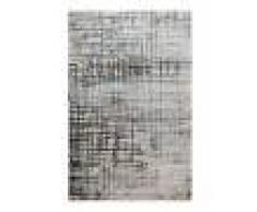 Esprit Tapis vintage relief gris/bleu pétrole pour salon, chambre 225x160
