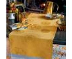 Garnier Thiebaut Chemin de table pur coton jaune 155X55