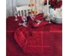 Garnier Thiebaut Chemin de table antitache déperlant pur coton bordeaux 52X147