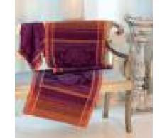 Garnier Thiebaut Chemin de table antitache déperlant pur coton rouge 54X180