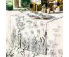 Garnier Thiebaut Chemin de table pur lin noir et blanc 50X155