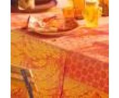 Garnier Thiebaut Chemin de table antitache déperlant pur coton orange 175X55