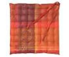 Garnier Thiebaut Galette de chaise enduit imperméable pur coton rouge 38X38