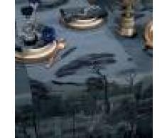 Garnier Thiebaut Chemin de table antitache déperlant pur coton noir 54X180