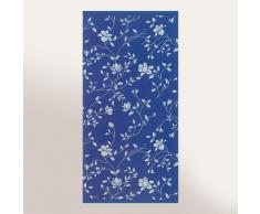 Serviette de toilette 50x100 cm 100% coton 480 g/m2 FLORAL Bleu